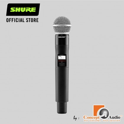 SHURE QLXD2/SM58 - SM58 and QLXD2 Handheld Transmitter with SM58 Capsule